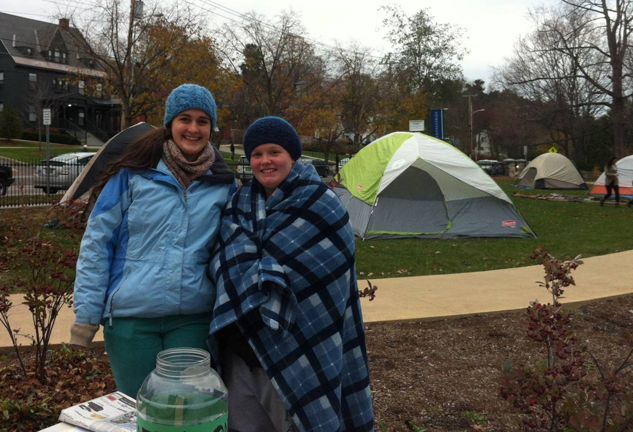 Tent City Raises Homeless Awareness Committee On