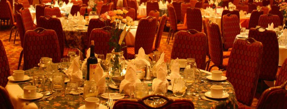 30th anniversary cots gala. table decorations.