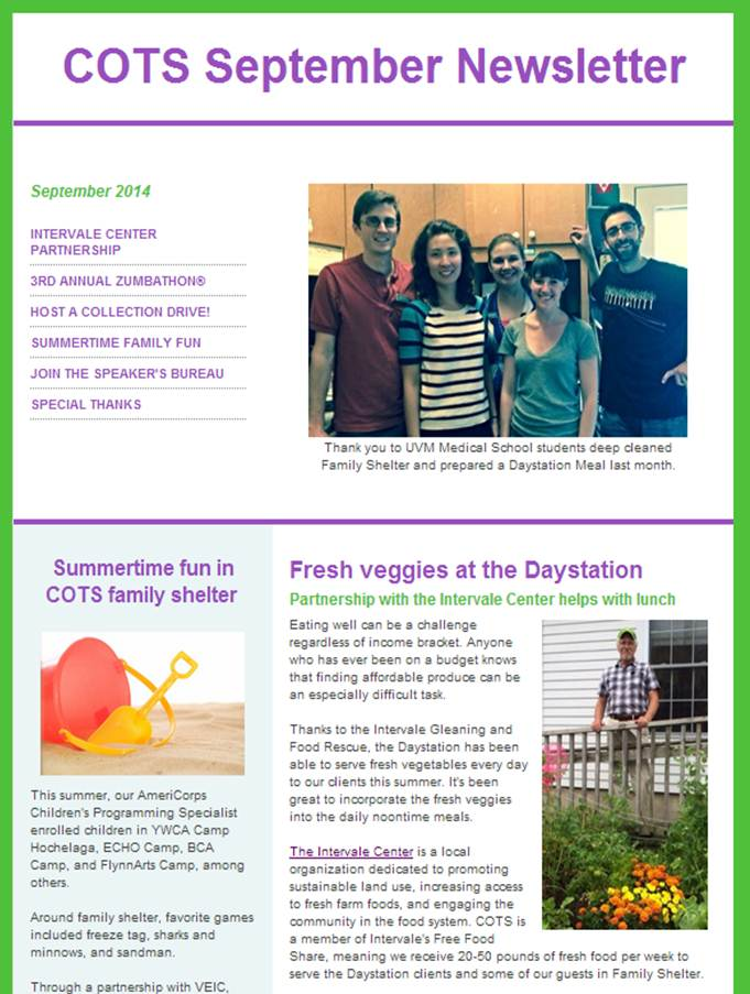 September E-Newsletter