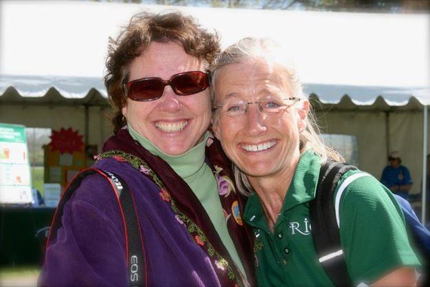Lucy Samara (left) with Sarah Smith Conroy