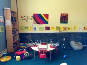 The playroom at the Firehouse shelter.