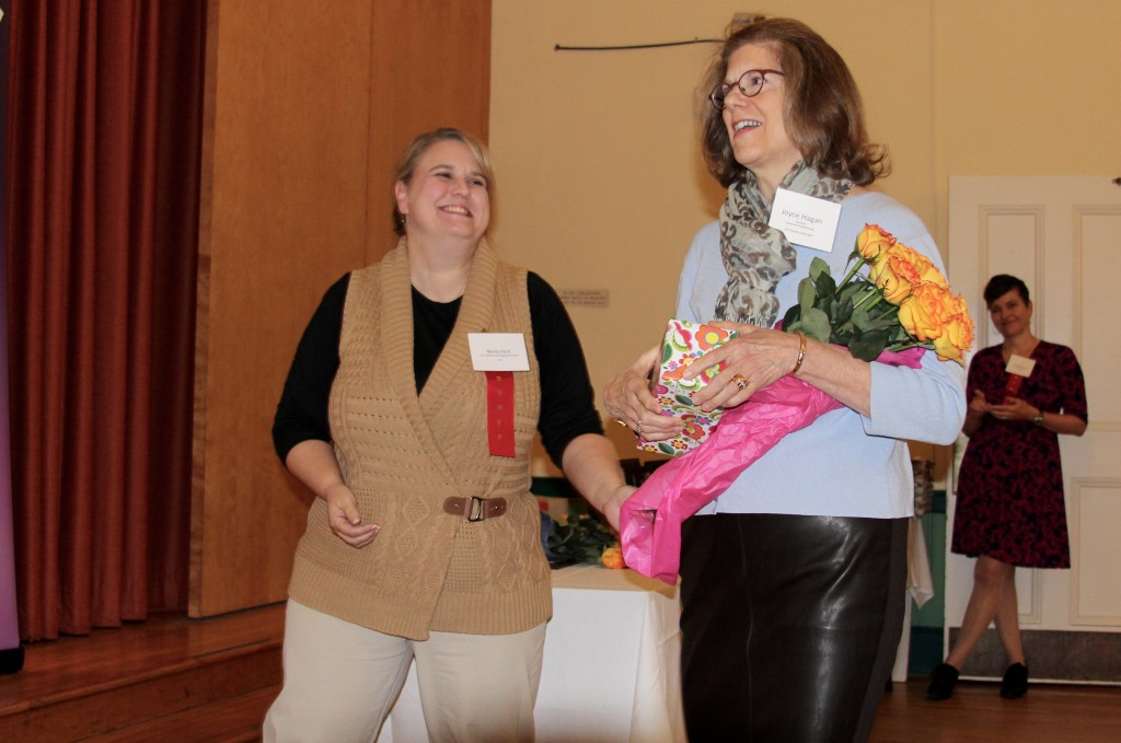 COTS Development Director Becky Holt (left) with Joyce Hagan