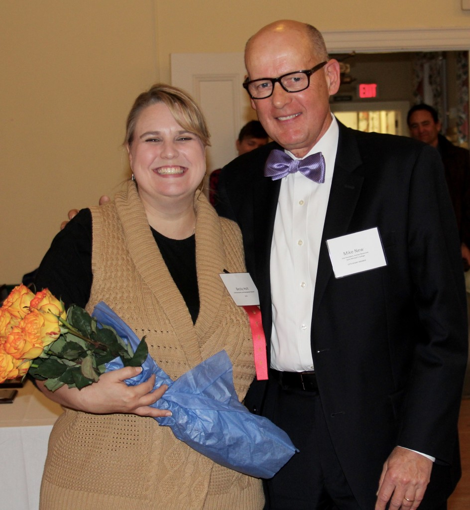 COTS Development Director Becky Holt with Mike New