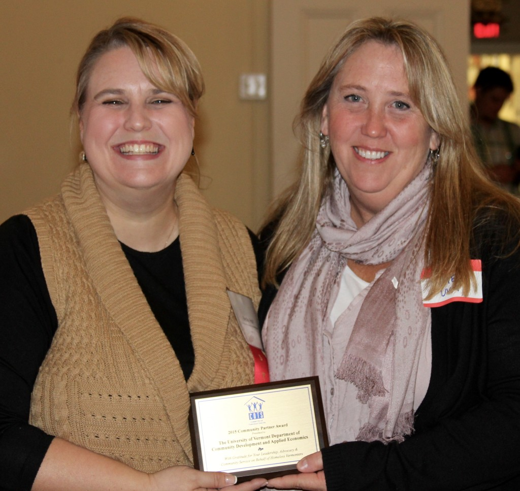 COTS Development Director Becky Holt with UVM lecturer Kate Woodruff