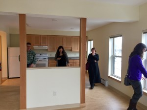 A glimpse at a new one-bedroom apartment at 95 North Avenue.