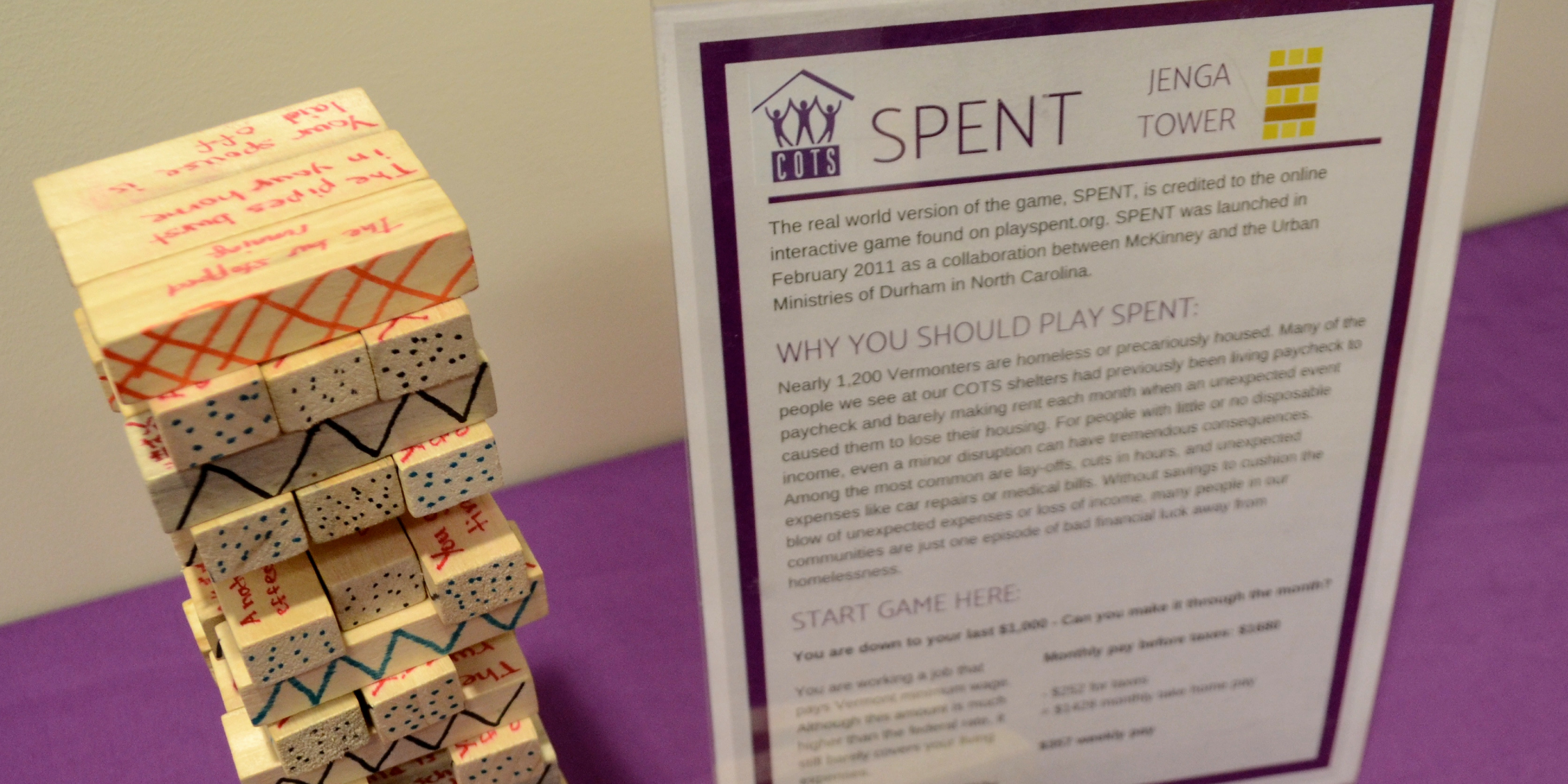 SPENT: A Game With Purpose | Committee on Temporary Shelter
